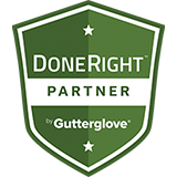 Done Right Partner By Gutterglove Badge