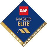 GAF Master Elite Certified Residential Roofing Contractor Badge